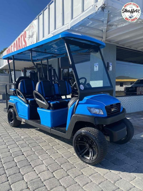 2021 Ocean Blue Bintelli Beyond 6pr LSV Golf Cart