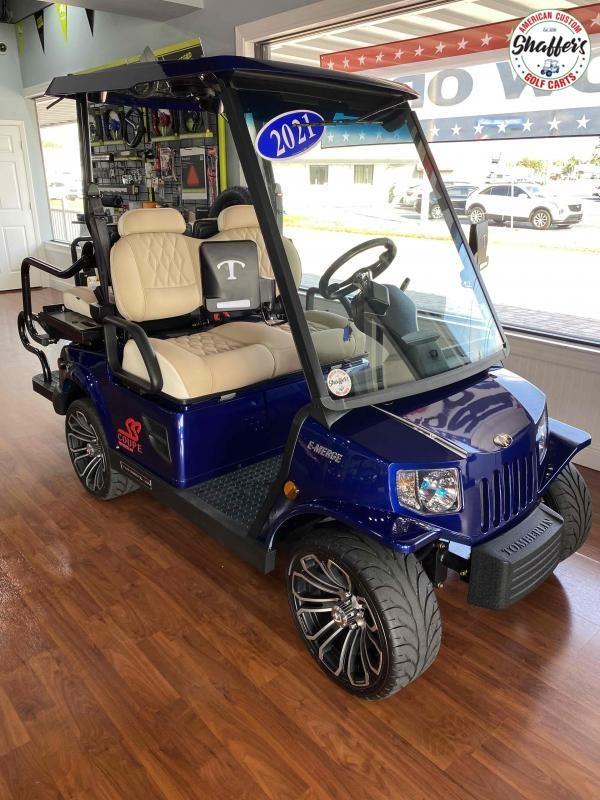 2021 Tomberlin Deep Impact Blue E-Merge E2 SS 4 passenger LSV Golf Cart