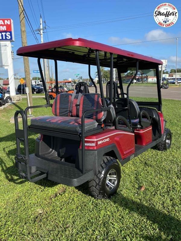 2021 Bintelli Beyond BURGUNDY LIFTED 6pr LSV Golf Cart