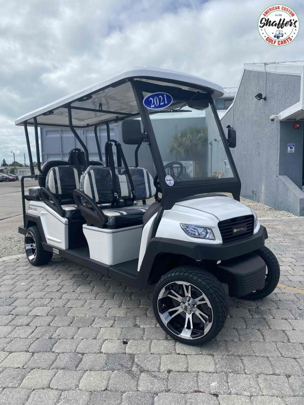 2021 Bintelli Beyond CUSTOM White 6pr Golf Cart