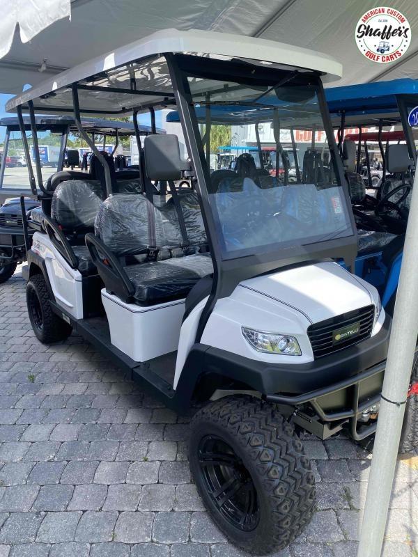 2021 Bintelli Beyond WHITE 6pr LIFTED Golf Cart