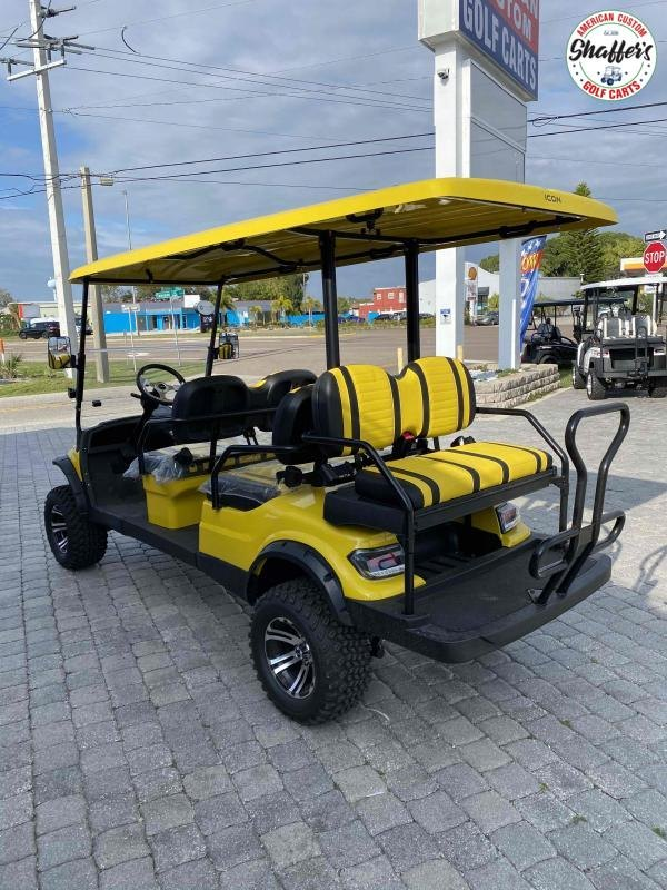 2021 YELLOW ICON i60L Lifted 6 passenger Golf Cart