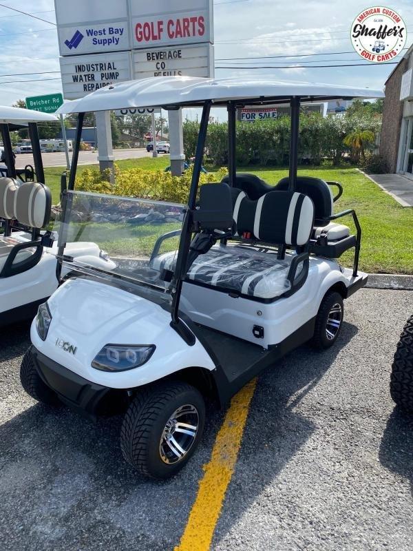 2021 ICON i40 White 4 passenger Golf Cart