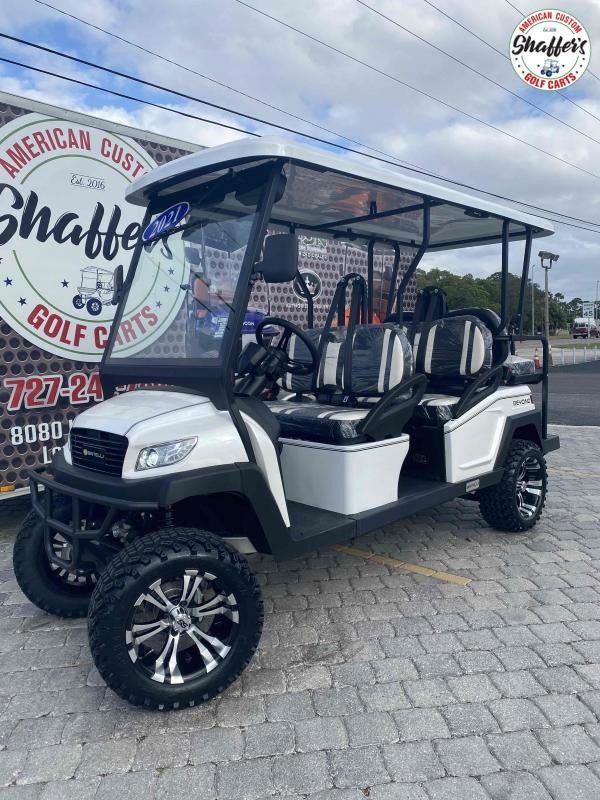 2021 Bintelli Beyond WHITE CUSTOM LIFTED 6pr Golf Cart