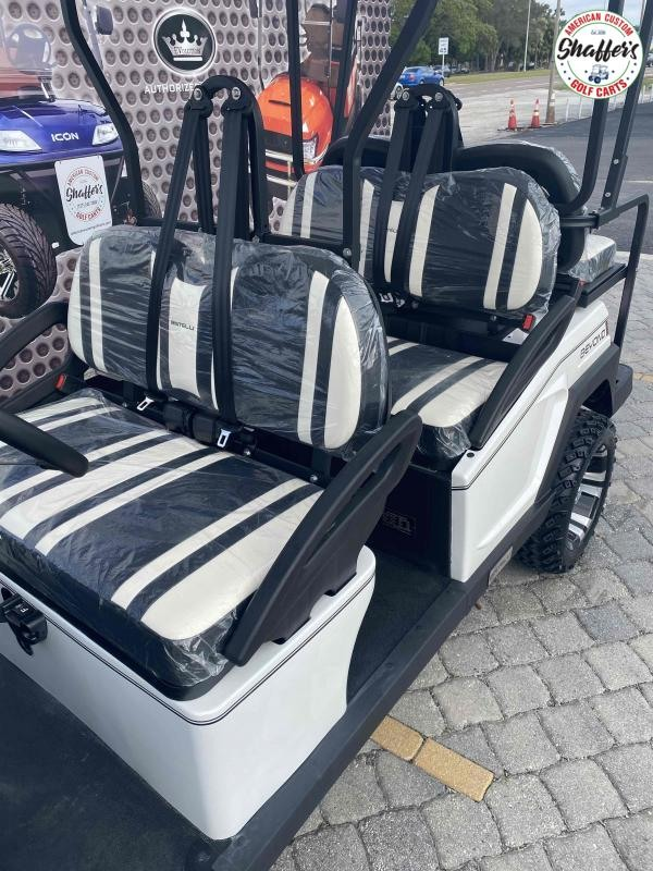 2021 Bintelli Beyond WHITE CUSTOM LIFTED 6pr Golf Cart