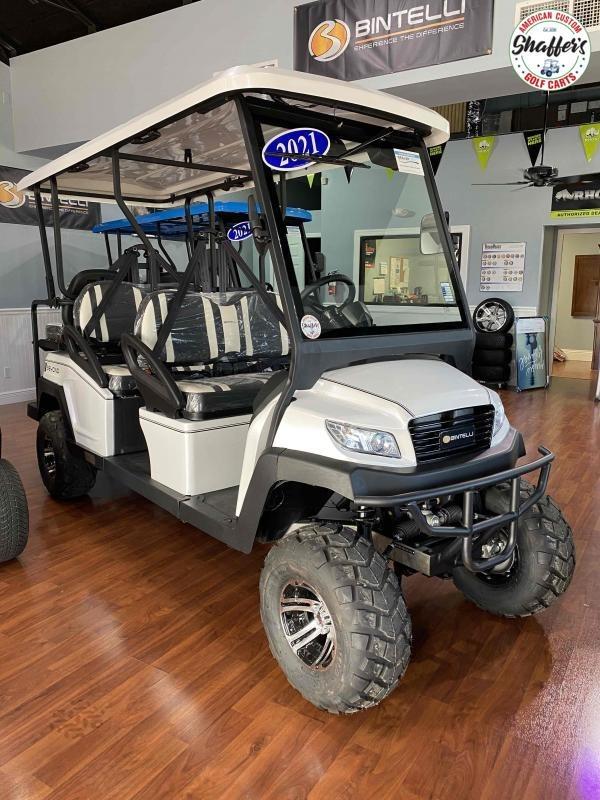 2021 Bintelli Beyond WHITE LIFTED 6pr Golf Cart