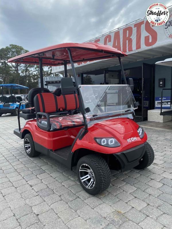 2021 RED ICON i40 4 passenger Golf Cart