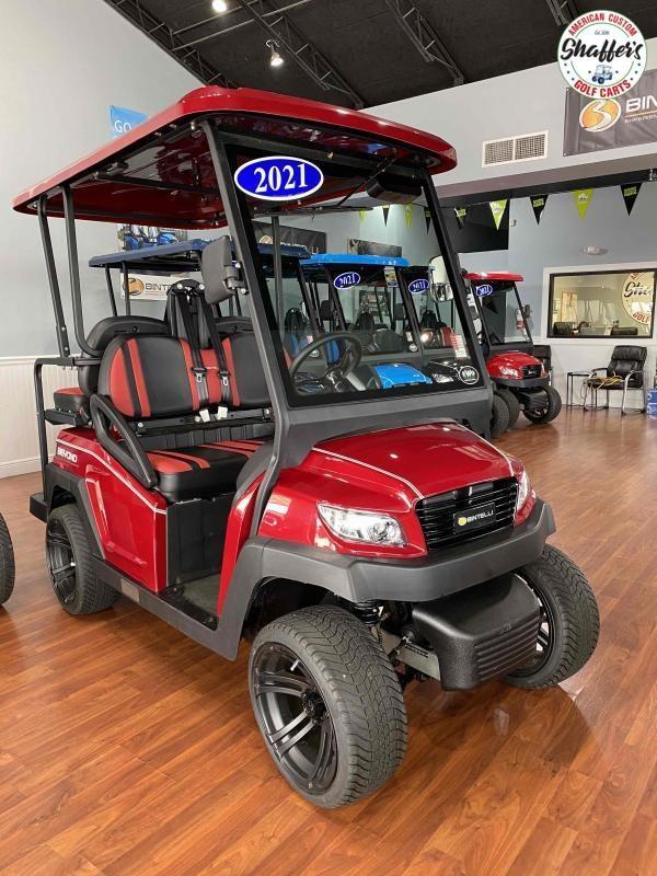 2021 Bintelli Beyond Burgundy Red 4pr Golf Cart