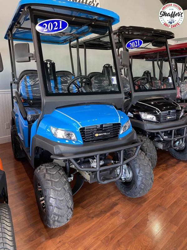 2021 Ocean Blue Bintelli Beyond 4pr LIFTED Golf Cart