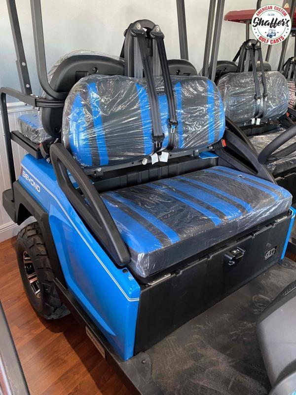 2021 Ocean Blue Bintelli Beyond 4pr LIFTED Golf Cart