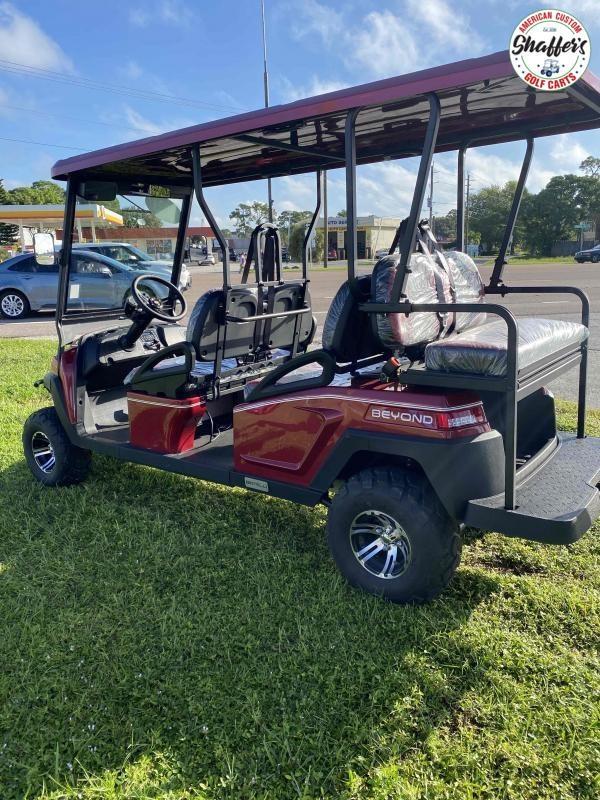 2021 Bintelli Beyond CUSTOM BURGUNDY LIFTED 6pr LSV Golf Cart