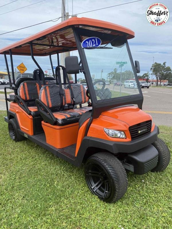 2021 Bintelli Beyond Orange 6pr Golf Cart DEMO SALE