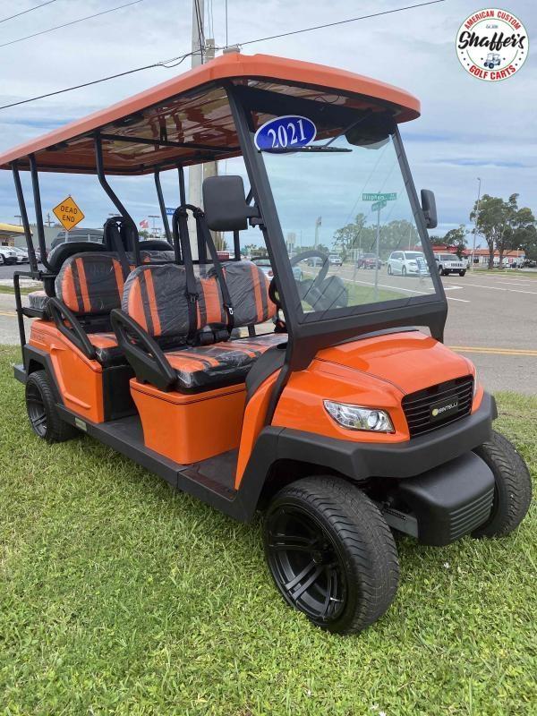 2021 Bintelli Beyond Orange 6pr Golf Cart DEMO SALE