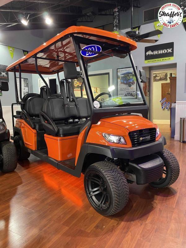 2021 CUSTOM Bintelli Beyond Orange w Black Interior 6pr Golf Cart
