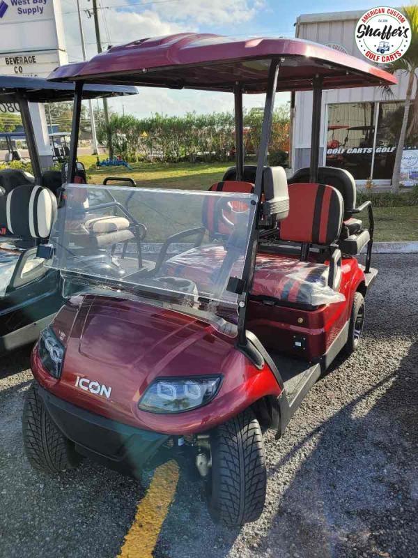2020 SANGRIA RED  ICON i40 4 passenger Golf Cart