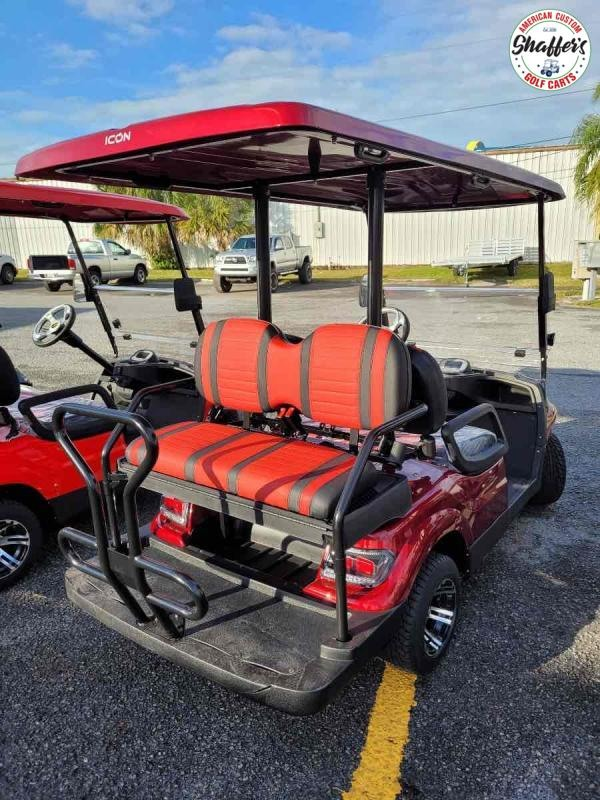2020 SANGRIA RED  ICON i40 4 passenger Golf Cart