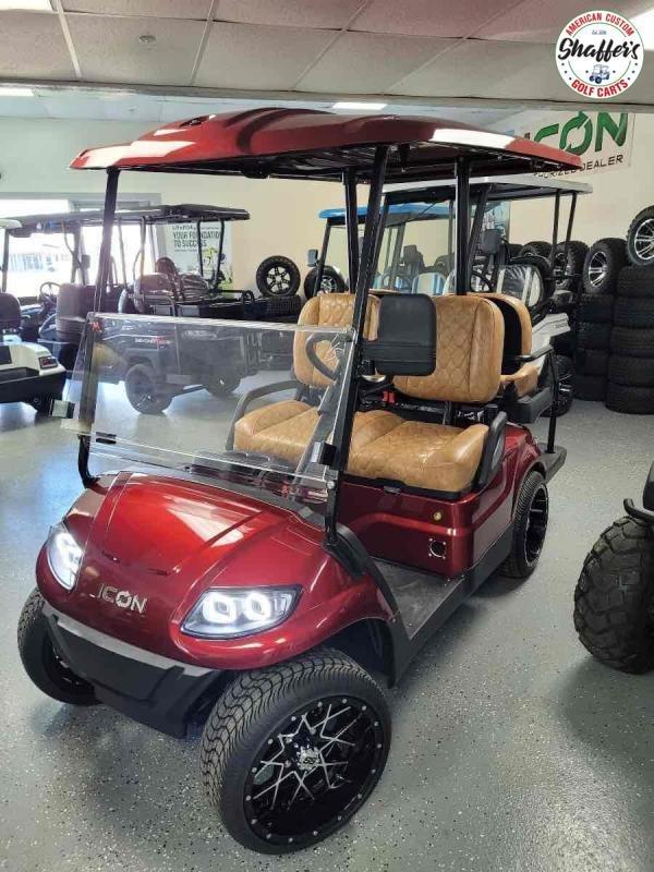 2021 CUSTOM SANGRIA RED  ICON i40 4 passenger Golf Cart