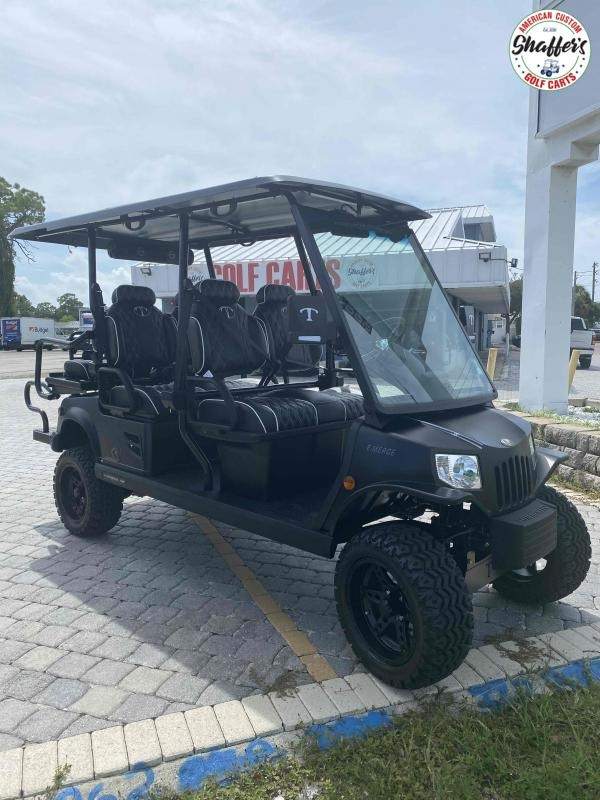 2021 Tomberlin Matte Gray E-Merge E4 SS GHOSTHAWK 6 passenger Golf Cart