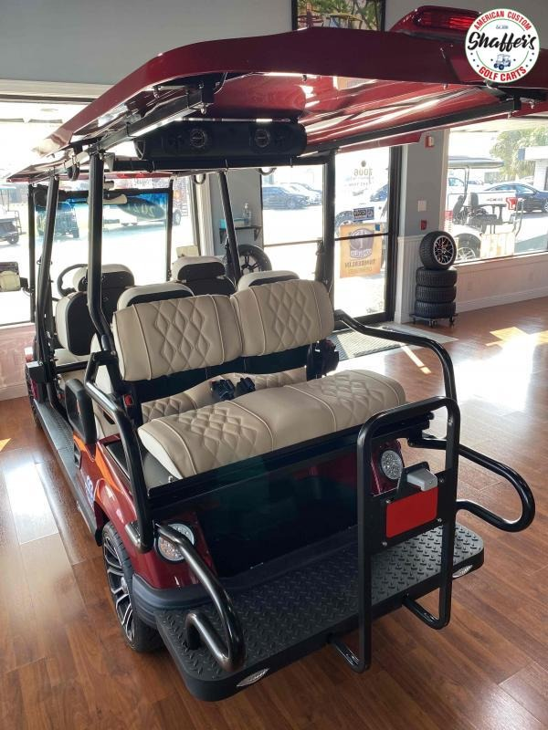 2021 Tomberlin Ruby Red E-Merge E4 SS Saloon 6 passenger LSV Golf Cart
