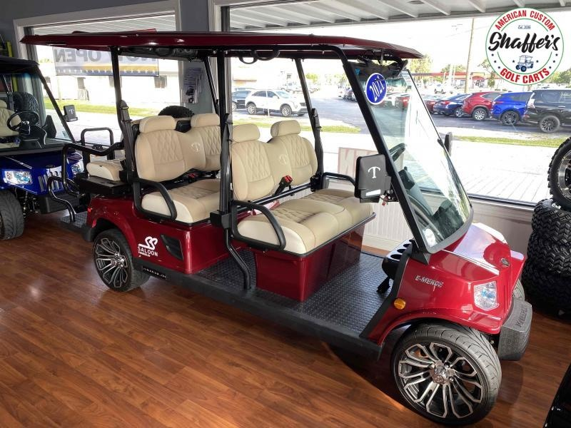 2021 Tomberlin Ruby Red E-Merge E4 SS Saloon 6 passenger LSV Golf Cart