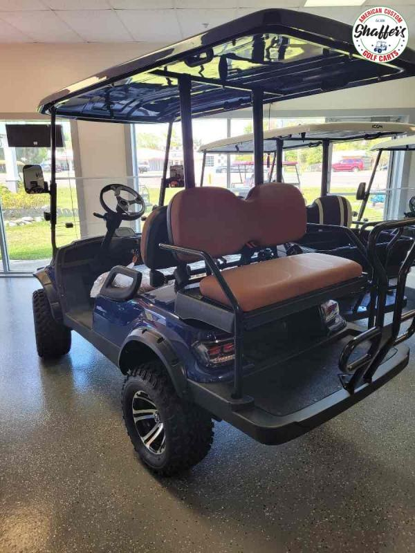 2021 Indigo BLUE ICON i40L Lifted Golf Cart