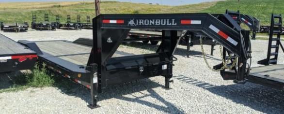 """Iron Bull 102"""" x 24' Low-Pro Tilt Gooseneck Trailer"""