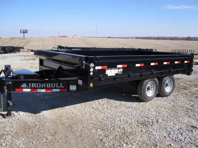 "Iron Bull 96"" x 14' Deckover Dump Trailer"