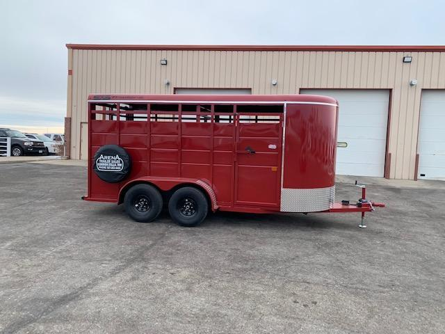 2021 S&S Manufacturing 16' Stock BP Livestock Trailer