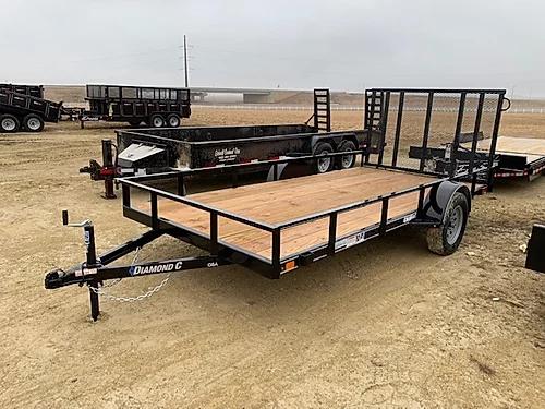 "2019 Diamond C 77"" x 14' SA Utility Trailer"