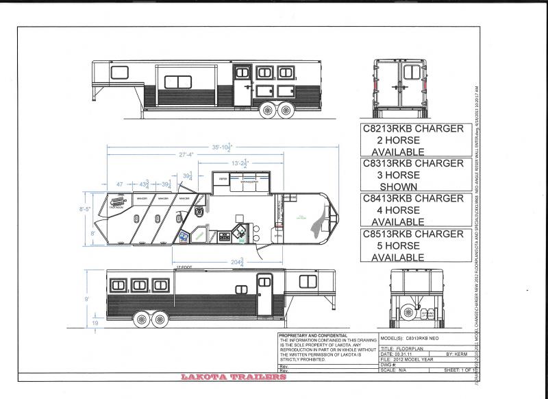 2022 Lakota 3H LQ Horse Trailer