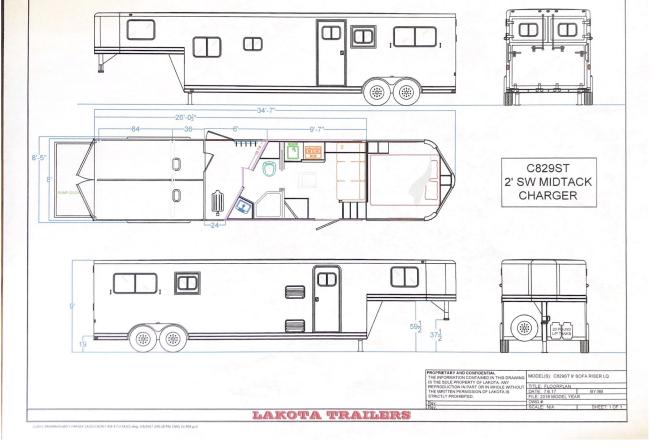 2022 Lakota 2H LQ Horse Trailer