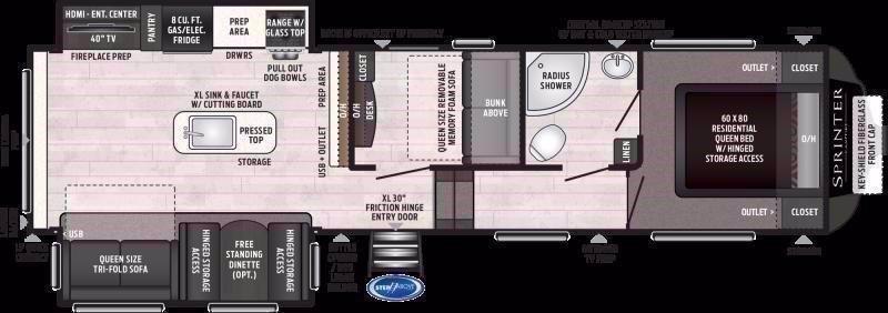 2021 Keystone RV SPRINTER 31MB