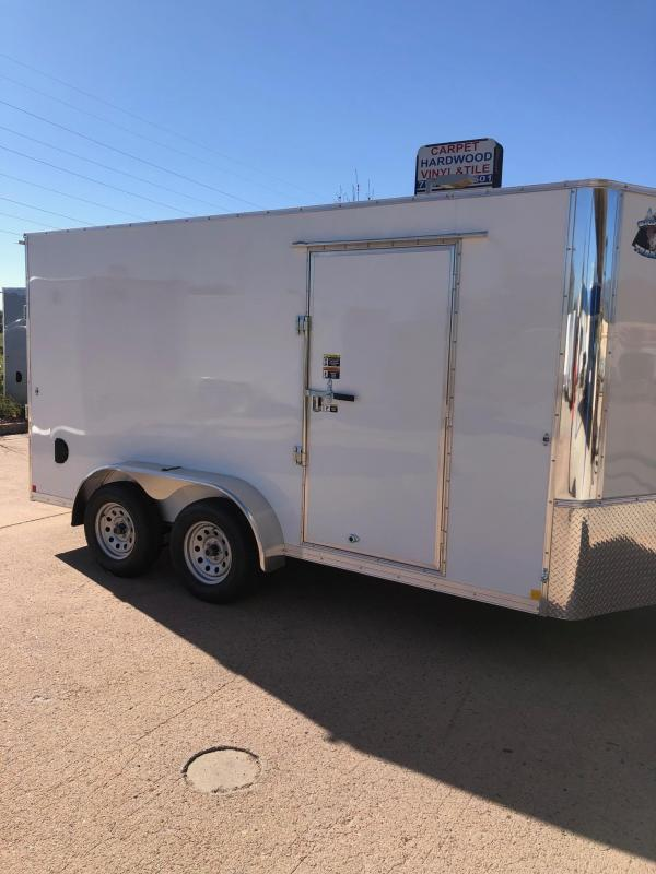 2021 R and M Manufacturing 7X14+V-NOSE (TAC) Enclosed Cargo Trailer