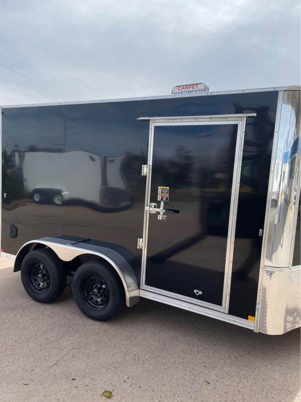 2022 R and M Manufacturing 7x12+v-nose (TAC) Enclosed Cargo Trailer-CO Springs