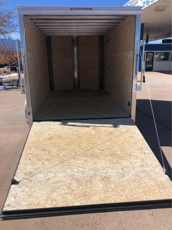 2021 R and M Manufacturing 7x12+v-nose (TAC) Enclosed Cargo Trailer