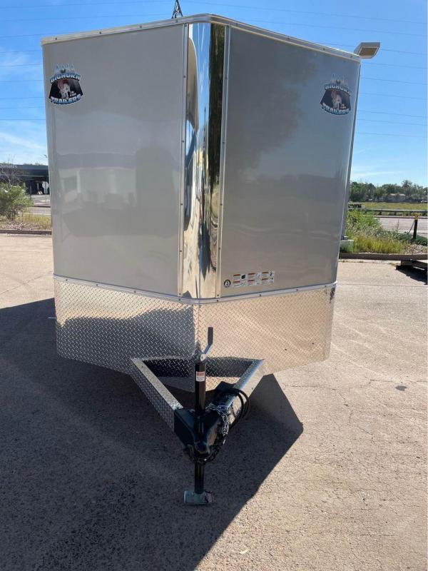 2022 R and M Manufacturing 7x16+v-nose (TAS) Enclosed Cargo Trailer-CO Springs