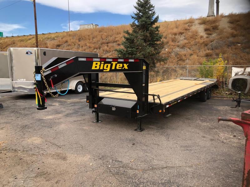 2021 Big Tex Trailers 14GN-25+5 W/Mega Ramps Flatbed Trailer-Wheat Ridge