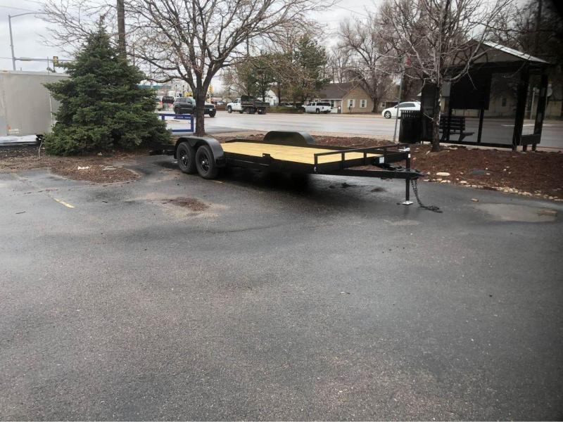 2022 R and M Manufacturing 8.5x20 (18+2) Flatbed Trailer