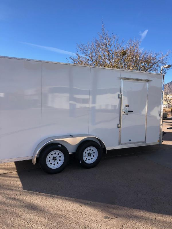 2021 R&M 7x16+v-nose (TAC) Enclosed Cargo Trailer-CO Springs