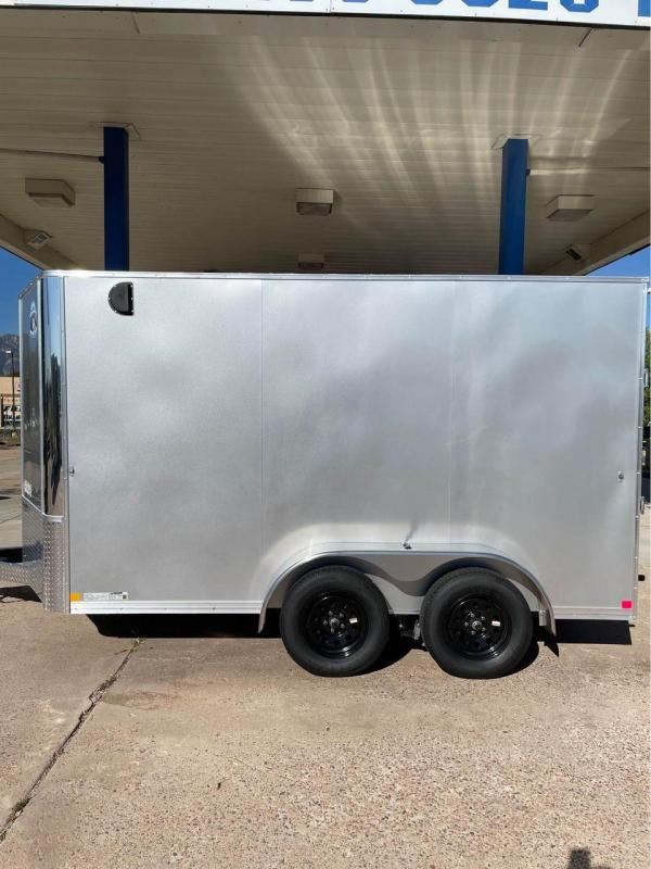 2022 R and M Manufacturing 7x12+v-nose (TAC) Enclosed Cargo Trailer