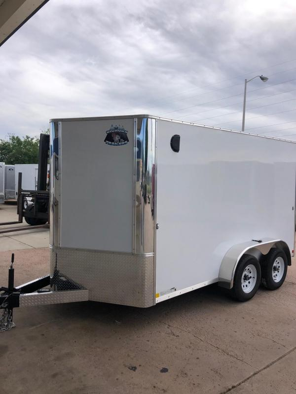 2020 R&M 7X12 V-NOSE Enclosed Cargo Trailer-CO SPRINGS