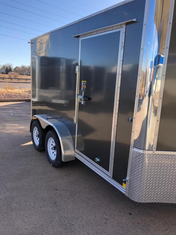 2021 R&M 7x12+v-nose (TAC) Enclosed Cargo Trailer-CO Springs