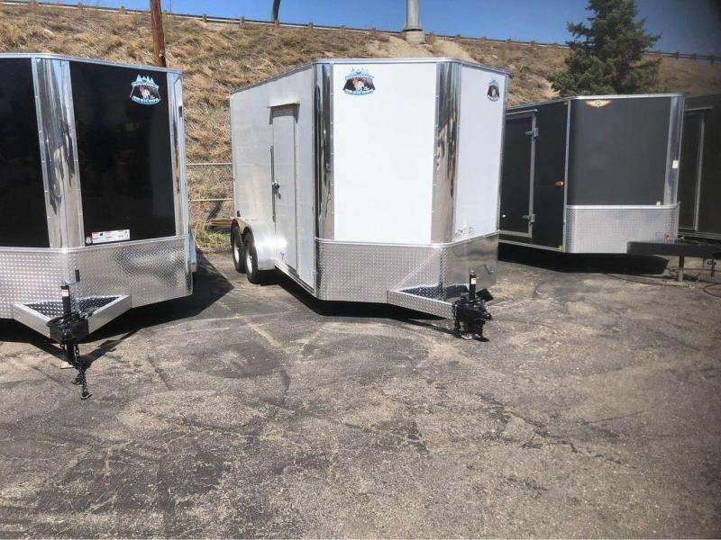 """2022 R and M Manufacturing 7x14+v-nose (84"""") Enclosed Cargo Trailer-Wheat Ridge"""