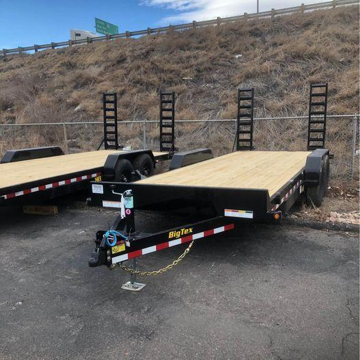 2021 Big Tex Trailers 14EE-20' w/ramps Equipment Trailer-Wheat Ridge