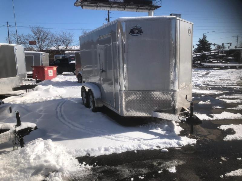 2020 R&M 7x12 v-nose (TAC) Enclosed Cargo Trailer-Wheat Ridge
