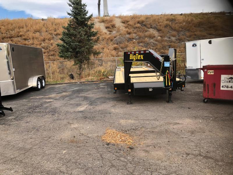 2021 Big Tex Trailers 14GN-20+5 W/Mega Ramps Flatbed Trailer-Wheat Ridge