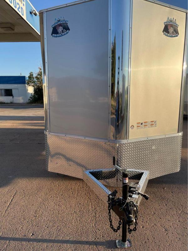2022 R and M Manufacturing 7x16+v-nose (TAC) Enclosed Cargo Trailer-CO SPRINGS