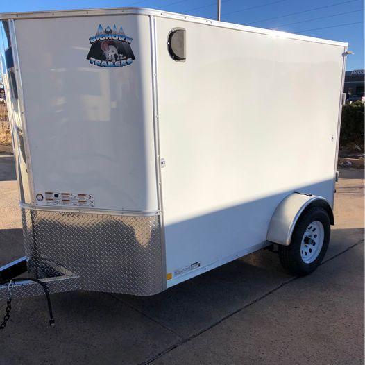 2021 R&M 5x8+v-nose Enclosed Cargo Trailer-CO Springs