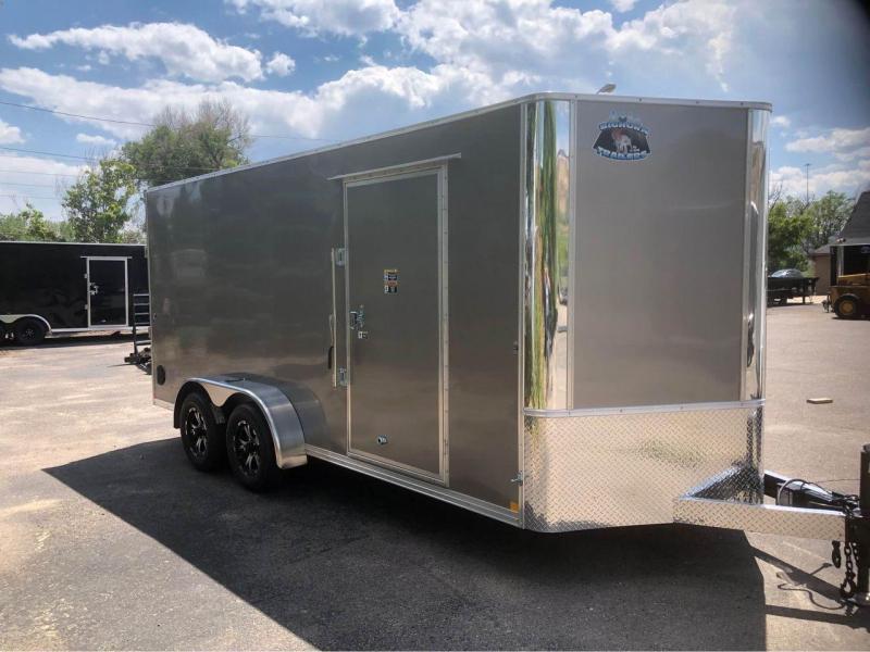 2022 R and M Manufacturing 7x16+v-nose (TAC) Enclosed Cargo Trailer