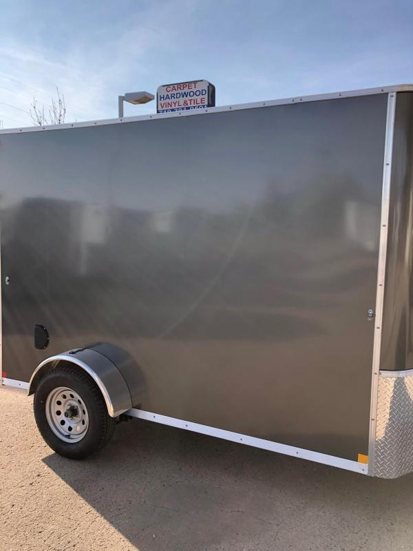 "2021 R and M Manufacturing 5x10+v-nose (78"") Enclosed Cargo Trailer"